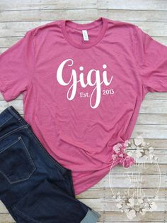 Gigi Shirt - Grandmother Shirt - Grandmother Gift - Mimi Shirt - Grandma Shirt - Grandparents Day - Grandparent Gift - Gift from Grandkids by CottonStateGifts on Etsy New Teacher Gifts, Special Ed Teacher, New Teachers, Elementary Teacher, School Teacher, Mom Gifts, Gigi Shirts, 90s Shirts, Vinyl Shirts