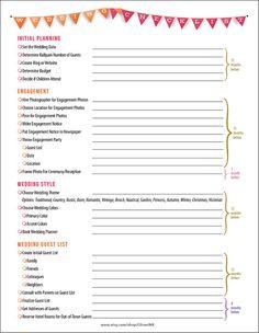 Wedding Timeline Checklist Pdf – Bernit Bridal