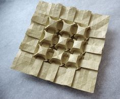 Origami tessellation cubes by Andrea Russo Tesselations, Origami Paper Art, Creative Textiles, Arts And Crafts, Paper Crafts, Andrea Russo, Paper Artwork, Shape And Form, Paper Folding