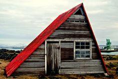 abandoned cabin, Iceland.