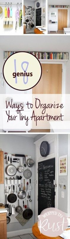 22 Clever Ways To Actually Organize Your Tiny Apartment   Living ...
