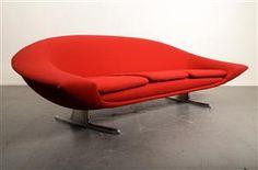 Curved sofa, Hans-Erik Johansson, 1960s