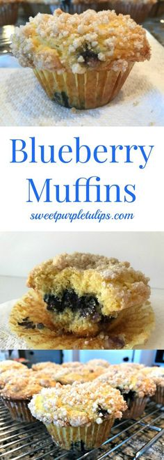 Looking for an easy blueberry muffin recipe? Try these muffins for a quick weekend breakfast. Made with a cake mix and fresh blueberries and topped with a delicious streusel, this recipe is sure to please. #blueberrymuffins #breakfast