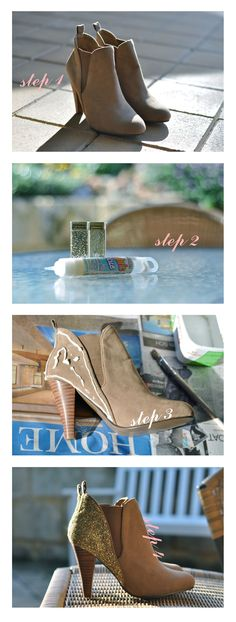 Glittery Shoes DIY