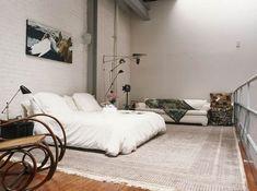 Bromeliad: Studio living - Fashion and home decor DIY and inspiration Interior Exterior, Home Interior, Interior Architecture, Interior Design, Bedroom Loft, Home Bedroom, Bedroom Decor, Modern Bedroom, Bedrooms