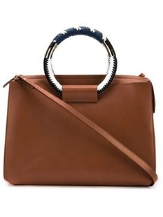 The Row 'Classic' braided ring handle leather box bag