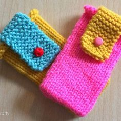 Cute and Colorful iPhone Cozies | AllFreeKnitting.com