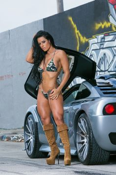 Hot Rods & Hot Bods Fitness Gurls, Love Fitness, Fitness Models, Fitness Women, Female Fitness, Female Muscle, Auto Girls, Car Girls, Girl Car