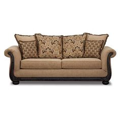 Sofa Mixed Fabrics Solid And Prints Tetrad Eastwood