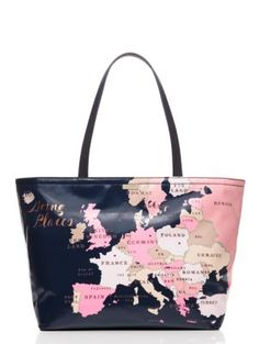 this version of our popular francis--a zip-top tote made from printed canvas--is decorated with world maps, making it the perfect way to express your wanderlust even when you're staying close to home.