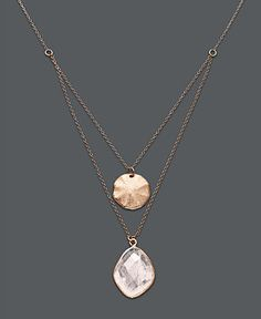 Studio Silver 18k Rose Gold over Sterling Silver Necklace, Double Row Rose Quartz Pendant (15-1/2 ct. t.w.) - FINE JEWELRY - Jewelry & Watches - Macy's