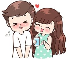 Sticker pack for cute couples in love Cute Chibi Couple, Love Cartoon Couple, Cute Cartoon Girl, Cute Love Couple, Anime Love Couple, Cute Kiss, Cute Love Gif, Cute Cartoon Pictures, Cute Love Pictures