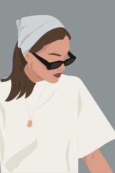 Portrait Illustration, Hand Illustration, Illustrations, Beauty Illustration, Art Sketches, Art Drawings, Mode Collage, Arte Sketchbook, Portrait Art