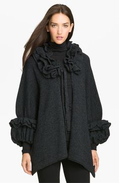Nordstrom Ruffle Cape available at #Nordstrom  is this a poncho or a sweater???