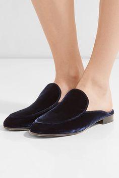 204e89ea031 Gianvito Rossi - Palau velvet slippers