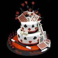 Magic Birthday Cake Magician Party Themed Cakes 60th