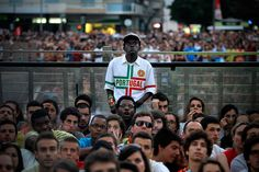 Lisbon, Portugal: Fans watch the Euro 2012 semi-final between Portugal and SpainPhotograph: Francisco Seco/AP