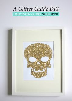 DIY Glitter Skull Print. Note: Nina and DIY don't find each other in the same sentence a lot.