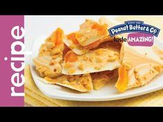 White Chocolate Apricot Peanut Butter Bark recipe #tasteamazing