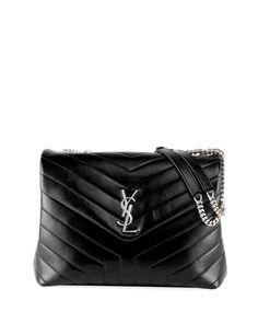 95582da80 Get free shipping on Saint Laurent Loulou Monogram YSL Medium Chain  Shoulder Bag at Neiman Marcus