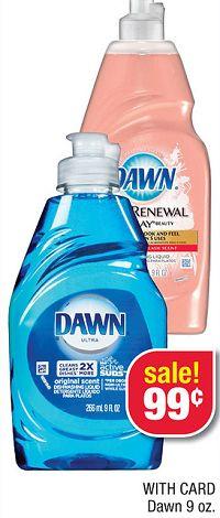 Dawn Hand Renewal Liquid Dish Soap is Just 49¢ at CVS!