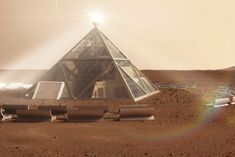 "Pyramid and human ""beehives"" designed for Mars dwellers 
