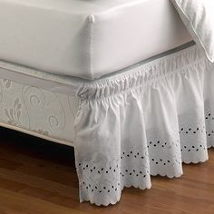 Ruffled Eyelet Bed Skirt - BedBathandBeyond.com