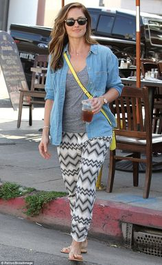 Easy breezy: Minka Kelly has lunch at the King's Road Cafe in West Hollywood on Friday