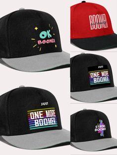 Osta linkistä omaksi, lakit ovat painatettu vain sinua varten!  Lakki saapuu tilauksesta muutamassa työpäivässä sinulle! Ok Boomer, Snapback, Strong, Hats, Fashion, Moda, Hat, Fashion Styles, Fashion Illustrations