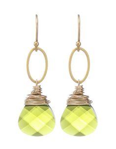 Moonrise Jewelry - Cairo Earrings- Olivine Green