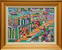 """""""Frontage Road""""  Pickett, David  b. 1960  oil on canvas, 18 x 24 ins., ca. 2010  $2,700"""