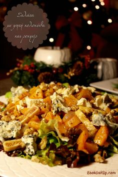 Greek Recipes, Vegan Recipes, Snack Recipes, Cooking Recipes, Xmas Food, Christmas Cooking, Food Decoration, Salad Bar, Appetisers