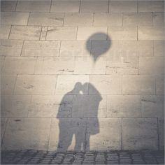 """Poster """"Aus 2 wird 1"""" von Ronny Behnert - #love #romance #Romantik #Liebe #couple #Paar #photography #art #shadow #Schatten"""