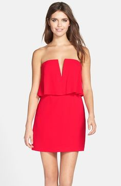 BCBGMAXAZRIA 'Kate' Strapless Crepe Dress available at #Nordstrom