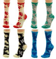 Lot of Harry Potter Junior Crew Socks GRYFFINDOR SLYTHERIN HUFFLEPUFF RAVENCLAW #Bioworld #JuniorCrewSocks