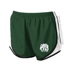 Monogrammed Running Shorts - Green – Ace & Ivy