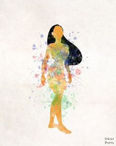 Pocahontas, Print, Art, Disney Art, Princess, Disney Princess, Indian Art…