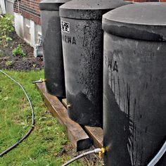 how to clean stinky rain barrel