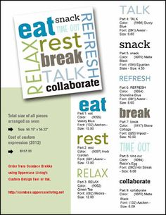 Here Is The Exact Breakdown Of A Custom Uppercase Living Created For An Office Break Room