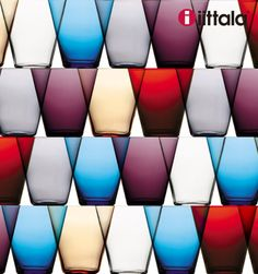 Iittala Kartio glasses - originally designed by Kaj Franck in Finland Glass Design, Design Art, Graphic Design, Glass Ceramic, Nordic Design, Illustrations, Colored Glass, Textures Patterns, Finland