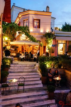 Evening atmosphere in Psyrri - Athens, Greece (April 2014)