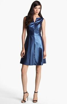 Ivy & Blu for Maggy Boutique Faux Leather Fit & Flare Dress available at #Nordstrom