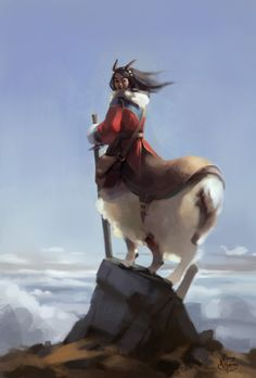 fantasyofcolor:  Alpine Centaur by Zara Alfonso Website | Tumblr | DeviantArt | Facebook | ArtStation | Prints