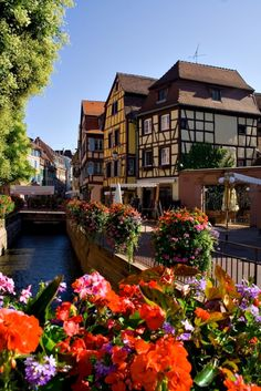 Colmar, Alsace, France is one of the most beautiful towns in France. This is a must visit.