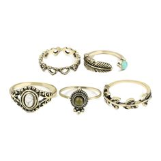 Desired Ring Set ($18) ❤ liked on Polyvore featuring jewelry, rings, gold plated jewellery, set rings, gold plated jewelry and gold plated rings