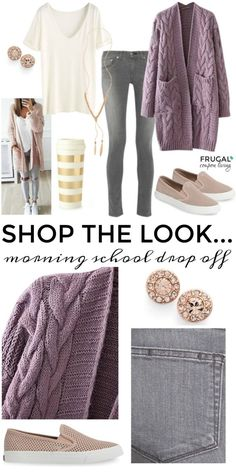 Frugal Fashion Friday Morning Drop-off Outfit on Frugal Coupon Living. The first bell is about to ring. That means the coffee pot is going to go on earlier and mom might have less time getting ready in the effort of getting her children out the door. We found the most perfect, causal, yet chic school drop-off outfit for your morning commute. Happy back to school! best