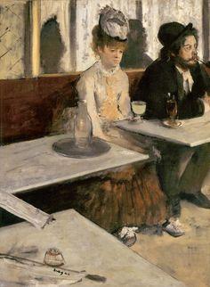 Edgar Degas, Absinthe, 1875–6, oil on canvas, 36 ¼ × 27 in., Paris, Musée d'Orsay