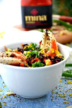 Black Rice Salad with Snow Crab Cocktail Claws (by The Healthy Apple)