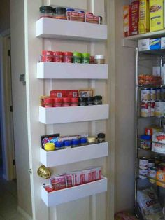 over door pantry shelves medium size of impressive over door pantry shelves pantry door storage shelves home design ideas back of door pantry shelf Spice Rack Pantry, Pantry Door Storage, Door Spice Rack, Cabinet Spice Rack, Spice Rack Organiser, Pantry Shelving, Diy Kitchen Storage, Spice Racks, Drawer Shelves
