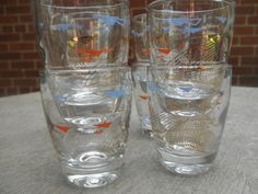 Set of 8 Cool Atomic Shot Glasses by YettiTreasures on Etsy, $16.00